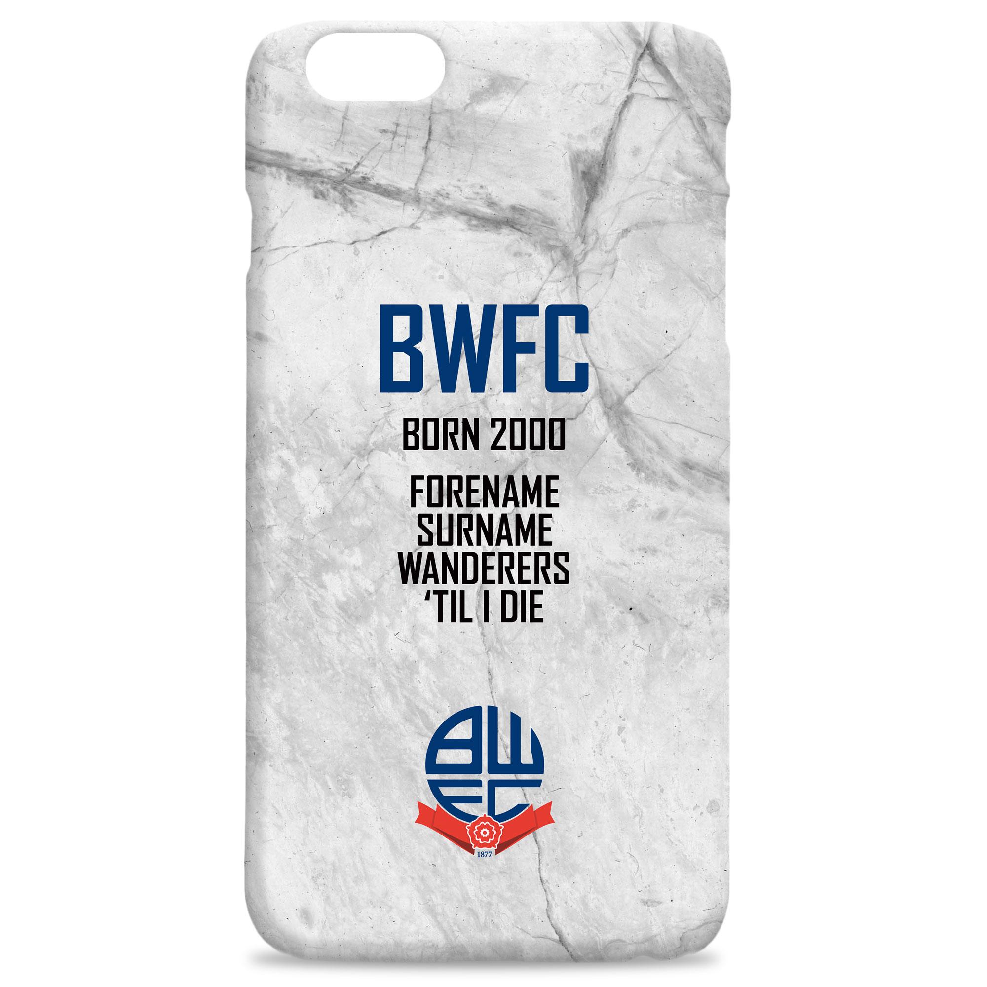 Bolton Wanderers FC 'Til I Die Hard Back Phone Case