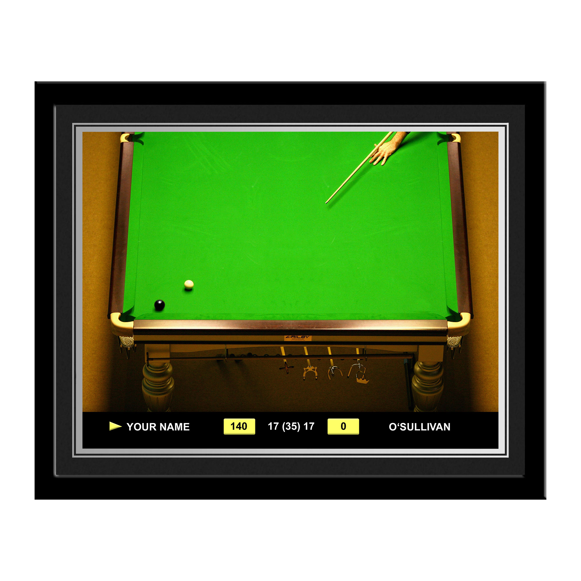 Personalised Snooker Photo Frame