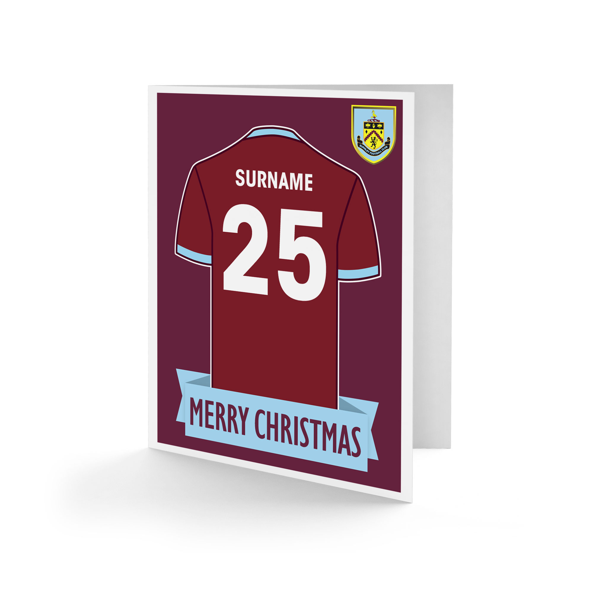 Burnley FC Shirt Christmas Card