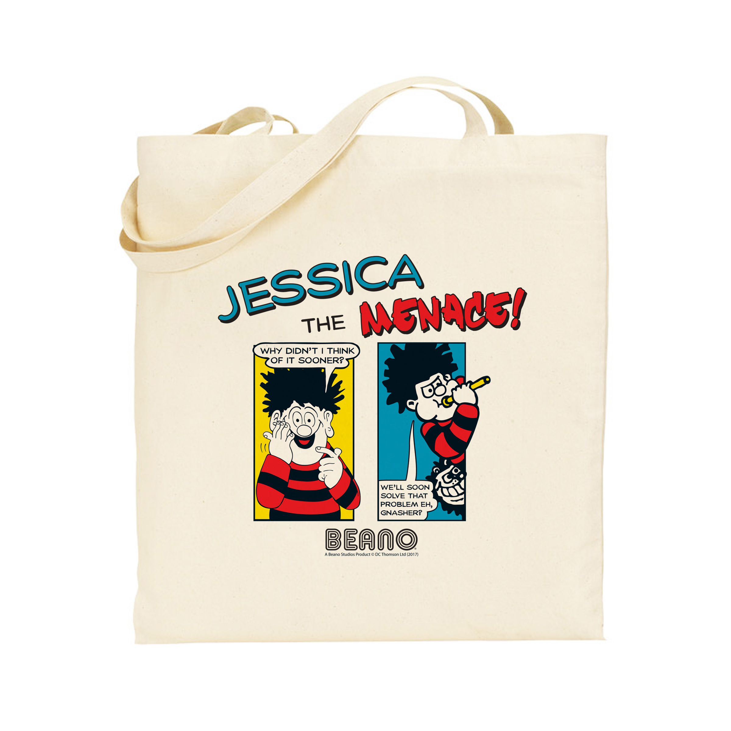 Beano Classic Comic Strip Problem Solved Tote Bag