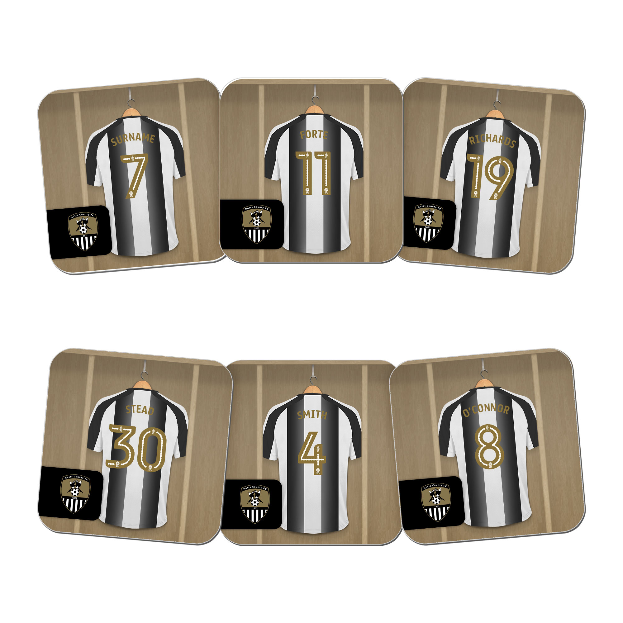 Notts County FC Dressing Room Coasters