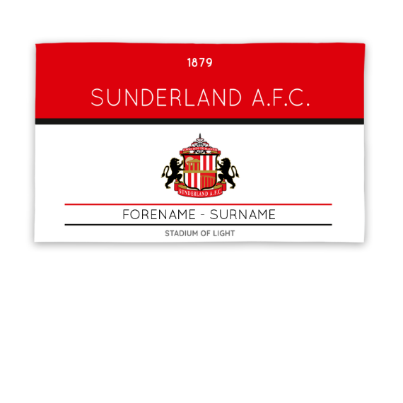 Sunderland Minimal Ticket 5ft x 3ft Banner