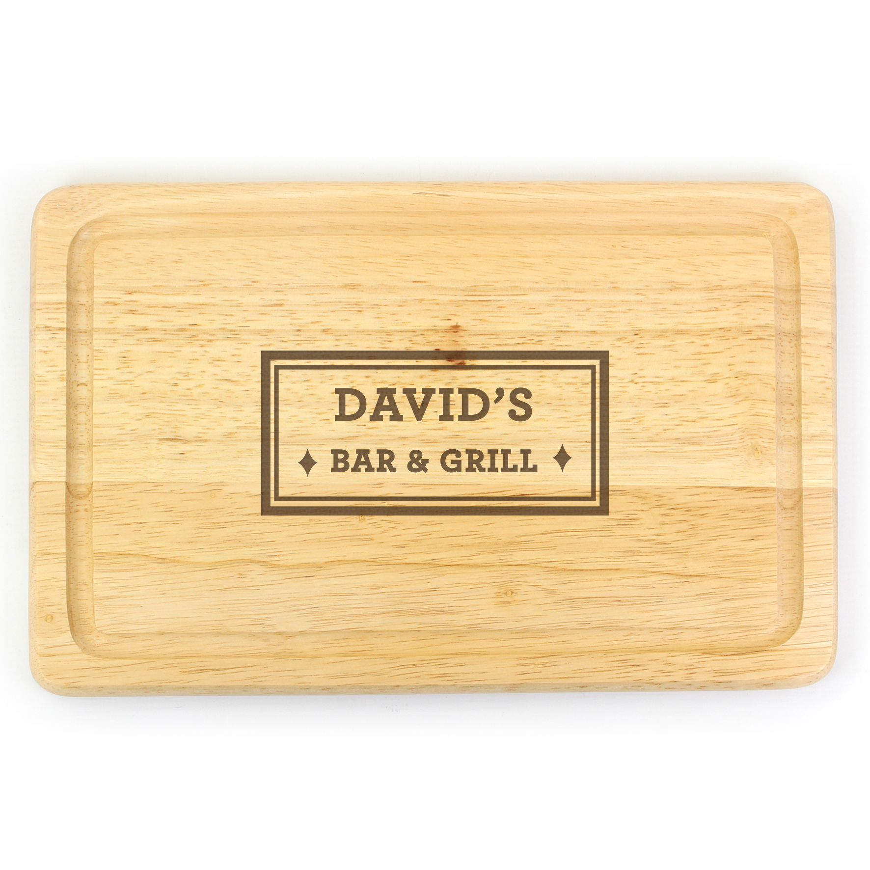 Engraved Bar & Grill Large Chopping Board