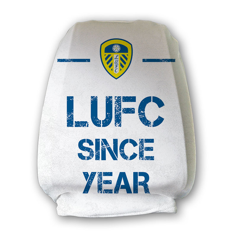 Leeds United FC Paint Splash Headrest Cover