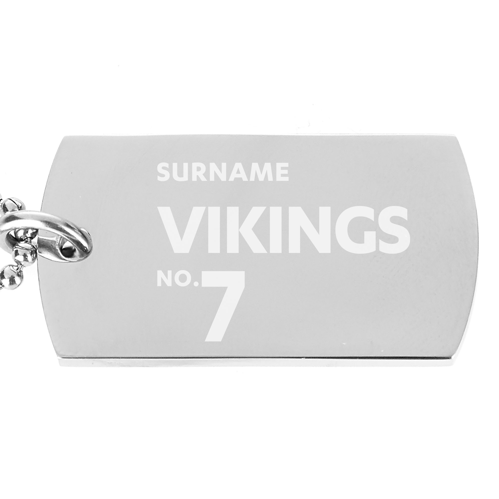 Widnes Vikings Number Dog Tag Pendant