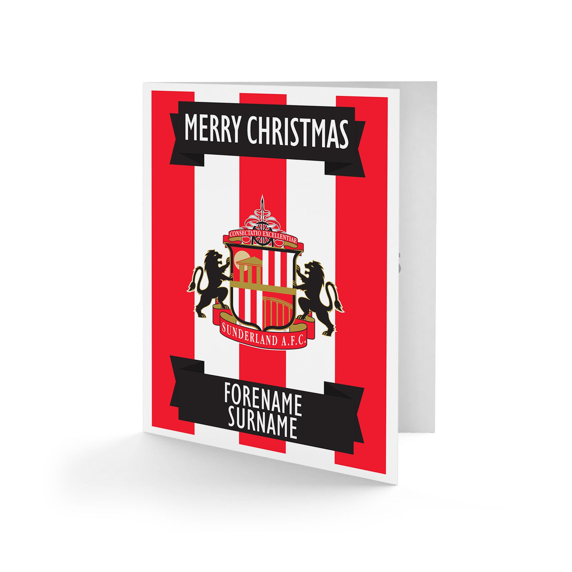 Sunderland AFC Crest Christmas Card