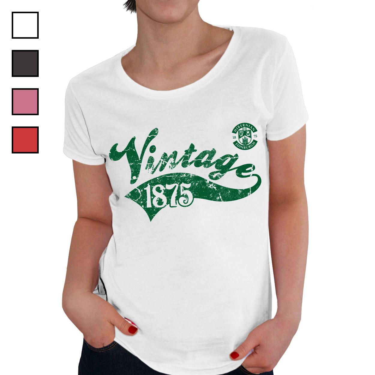 Hibernian FC Ladies Vintage T-Shirt