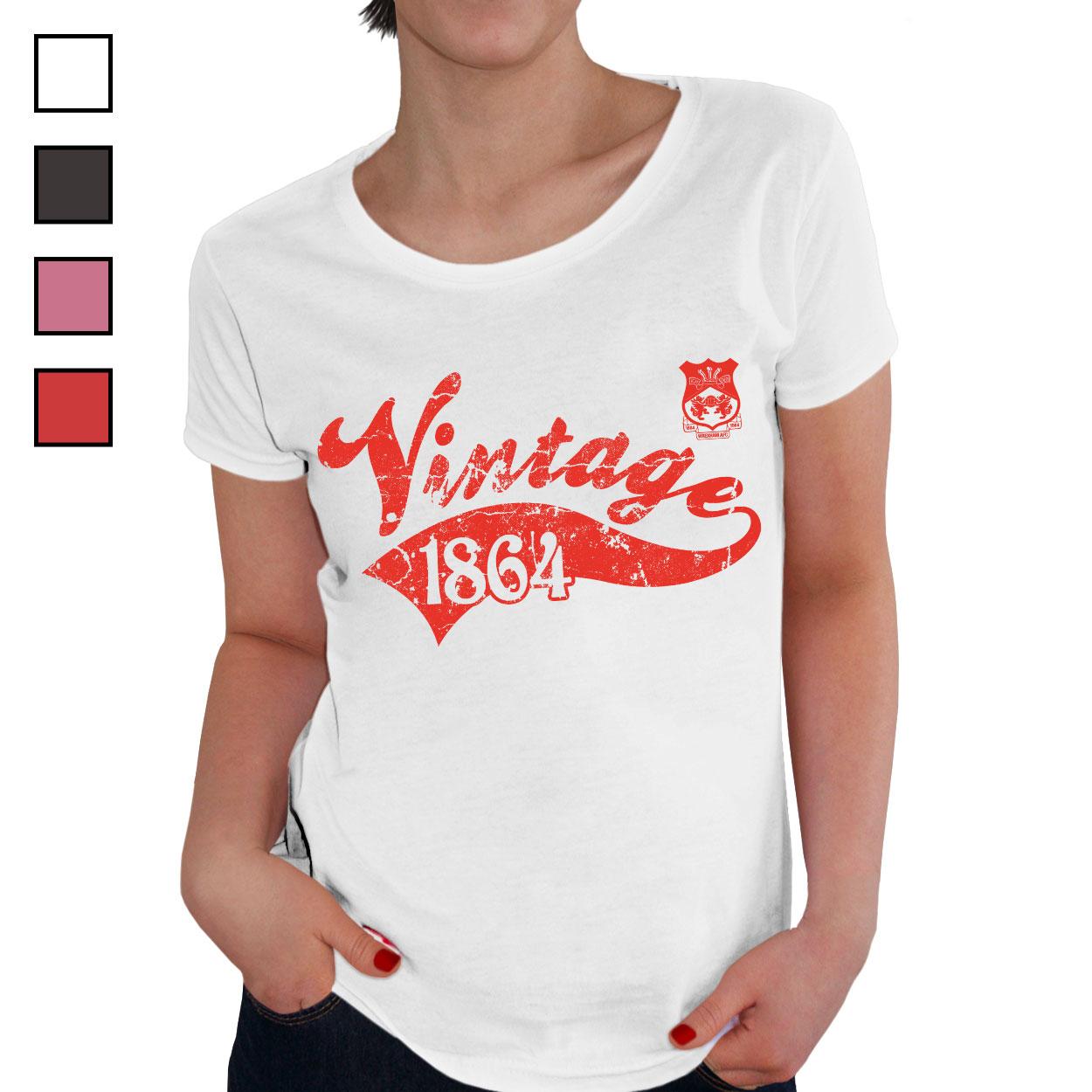 Wrexham AFC Ladies Vintage T-Shirt