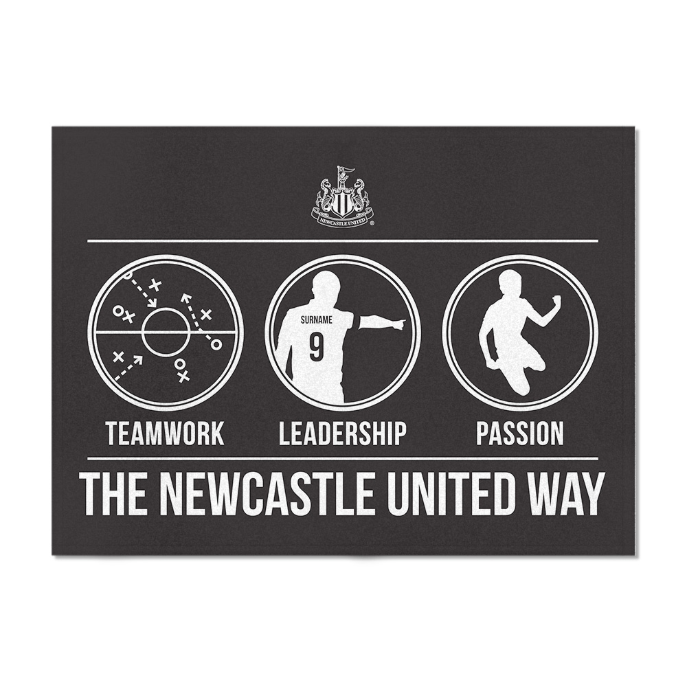 Newcastle United FC Way Blanket (150cm x 110cm)
