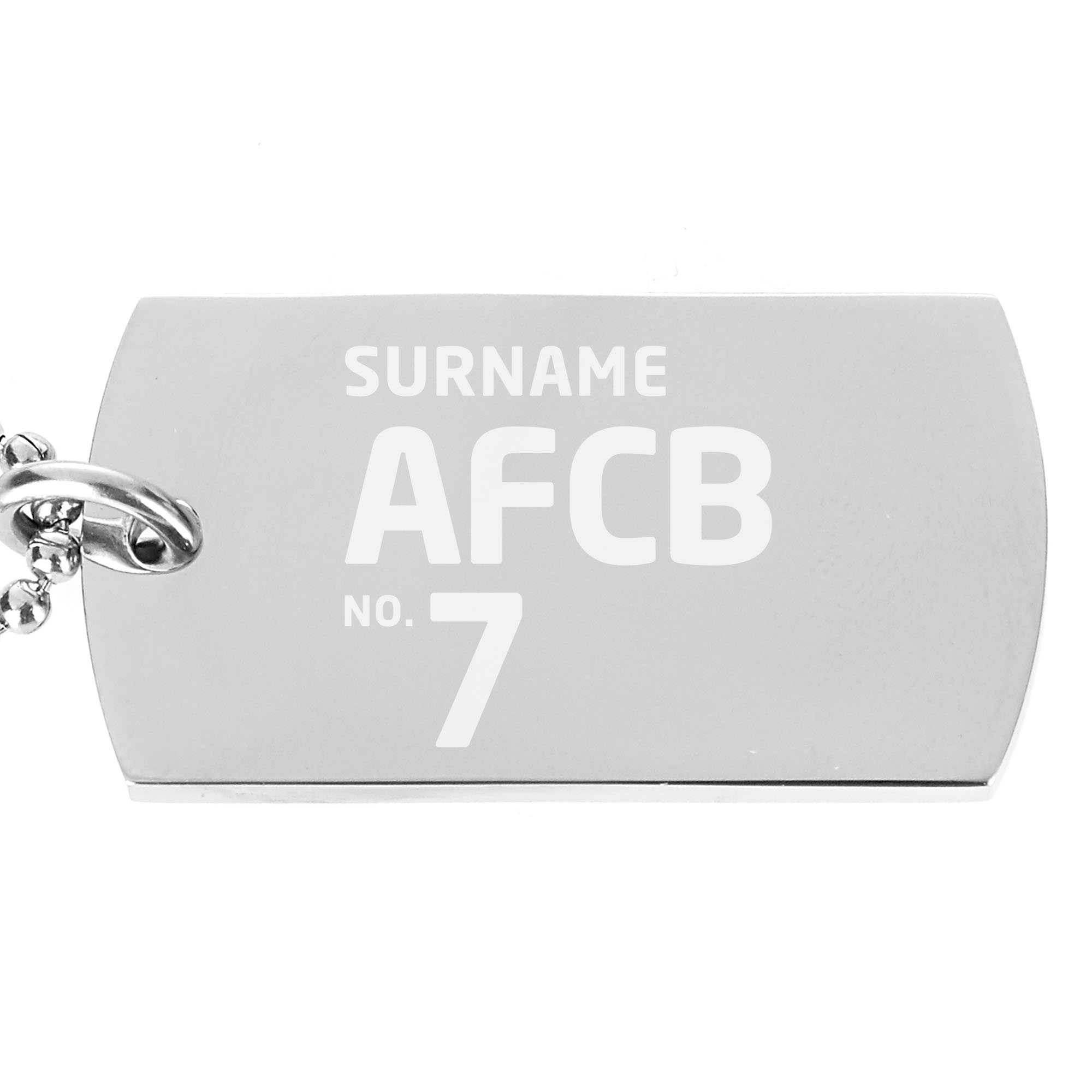 AFC Bournemouth Number Dog Tag Pendant