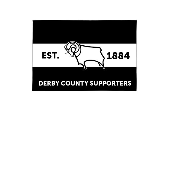Derby County Supporters 3ft x 2ft Banner