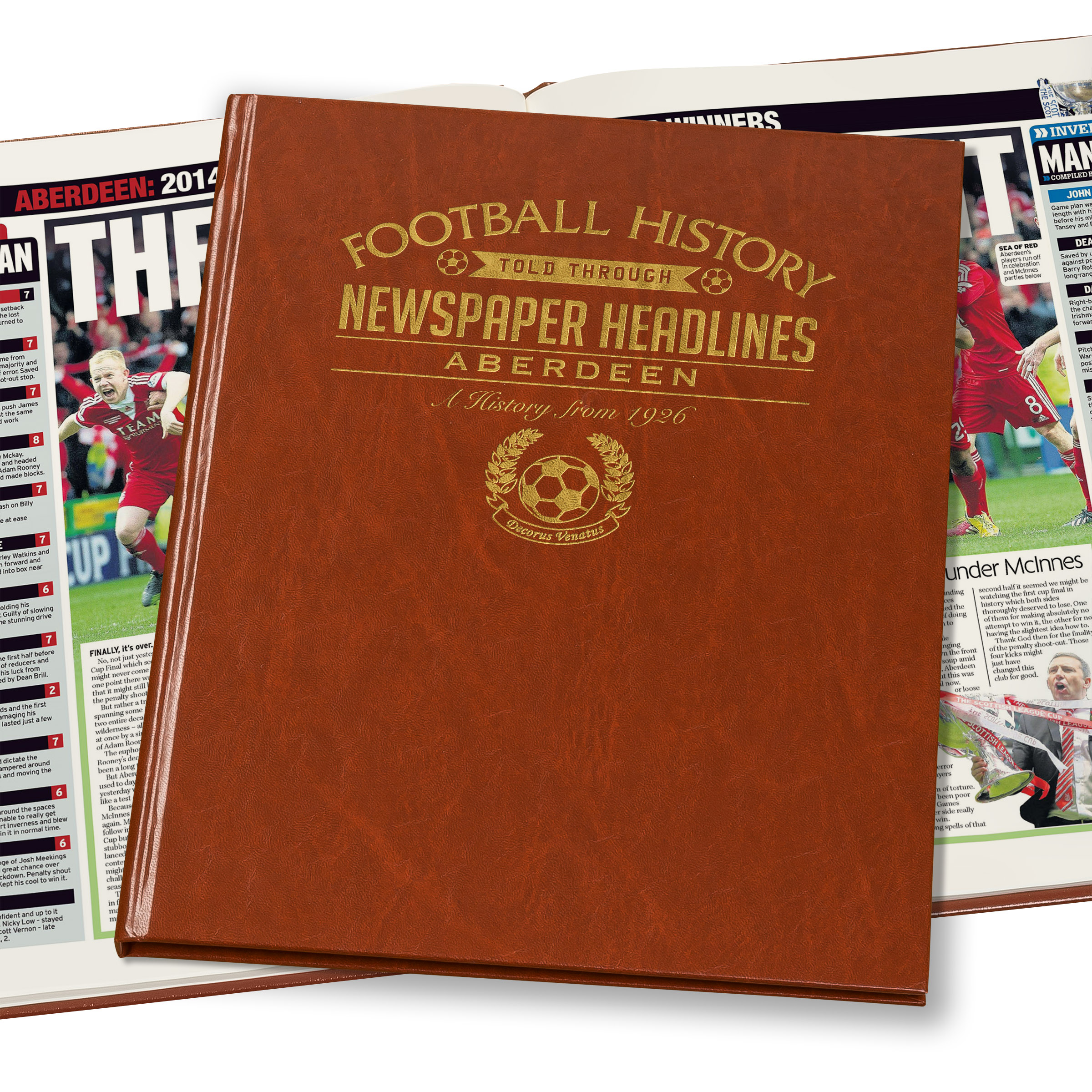 Aberdeen Football Newspaper Book (Colour Pages)