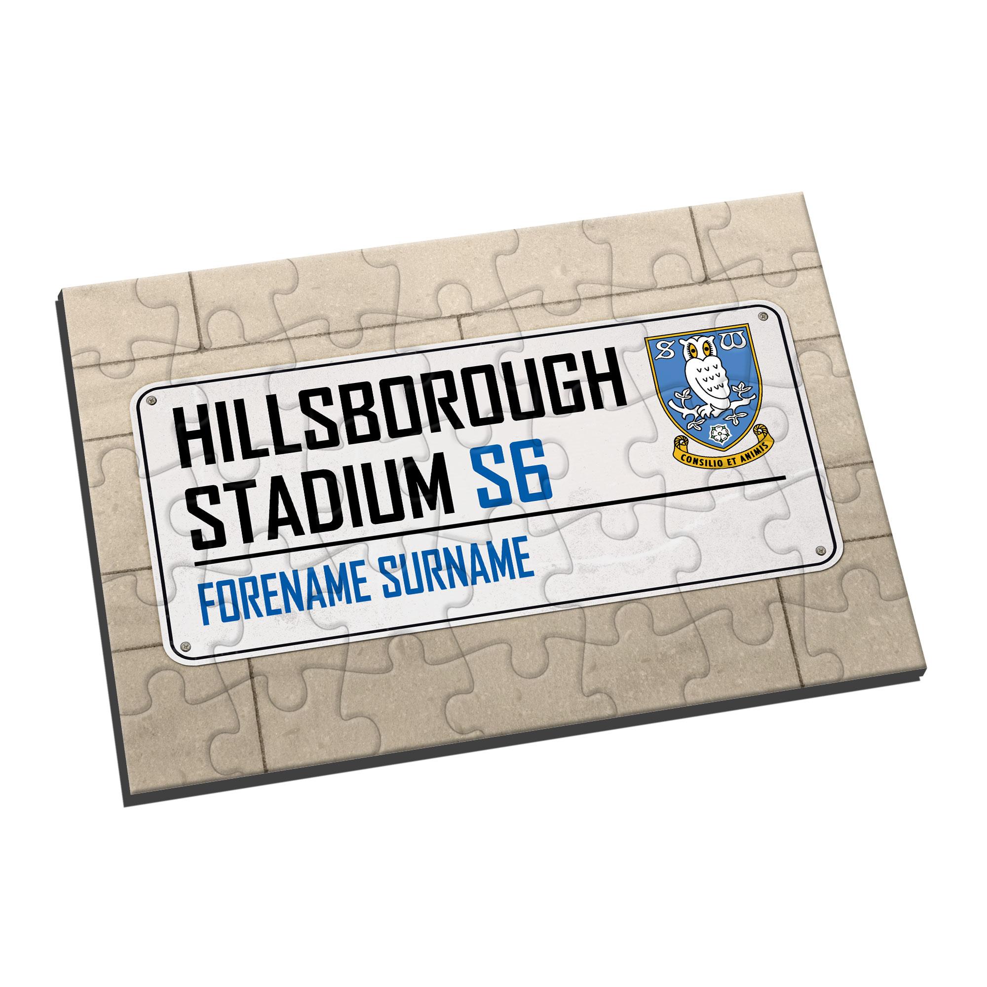Sheffield Wednesday FC Street Sign Jigsaw