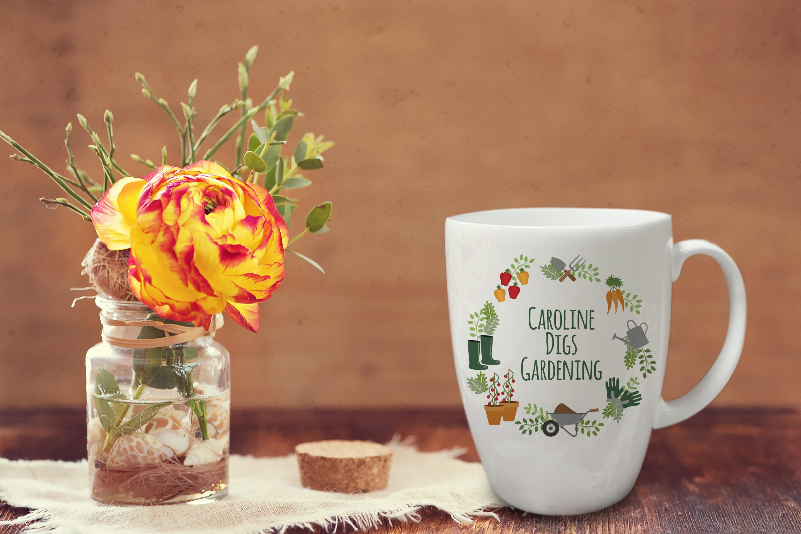 Digs Gardening Conical Mug