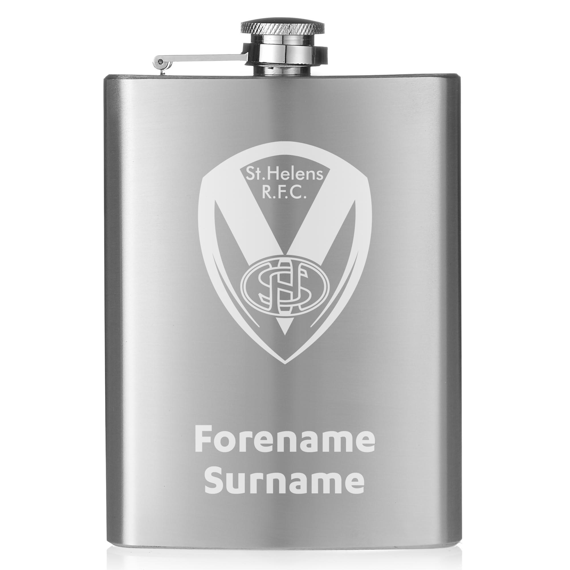 St Helens Crest Hip Flask