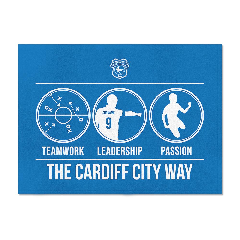Cardiff City FC Way Blanket (100cm X 75cm)