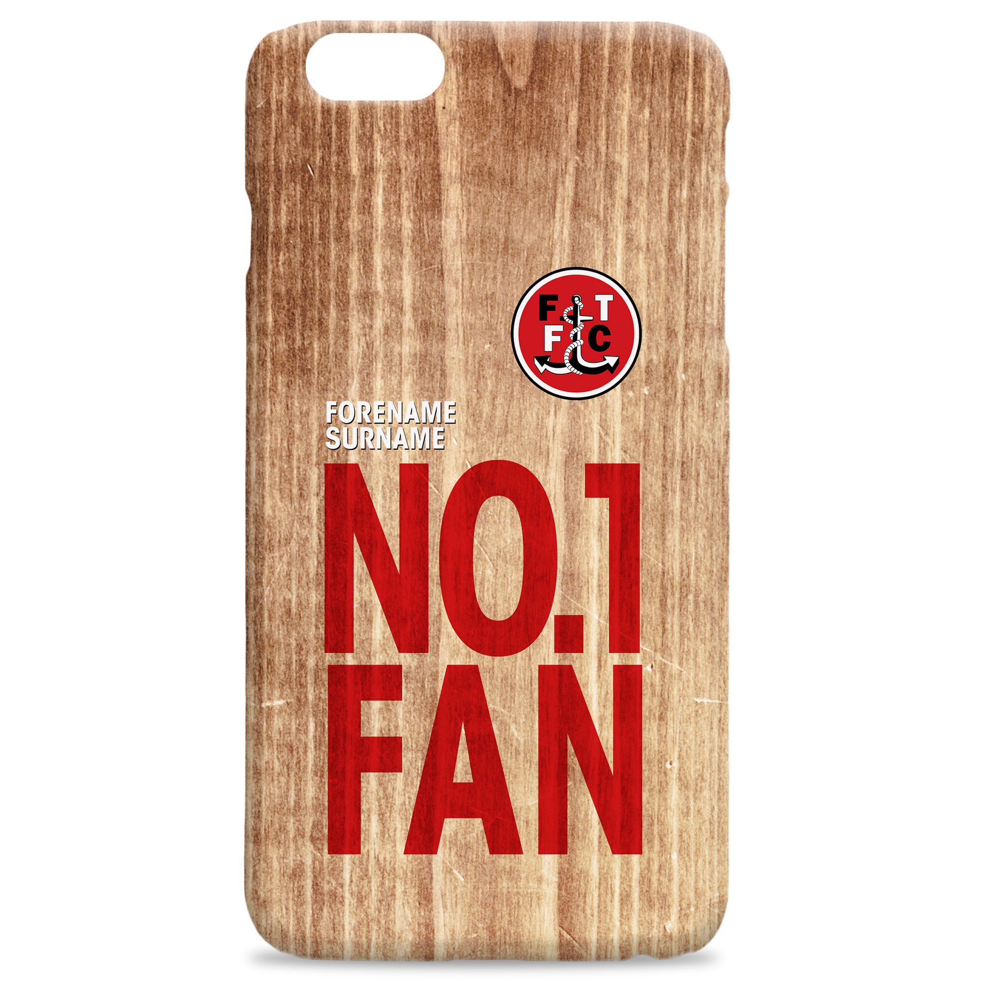 Fleetwood Town FC No 1 Fan Hard Back Phone Case