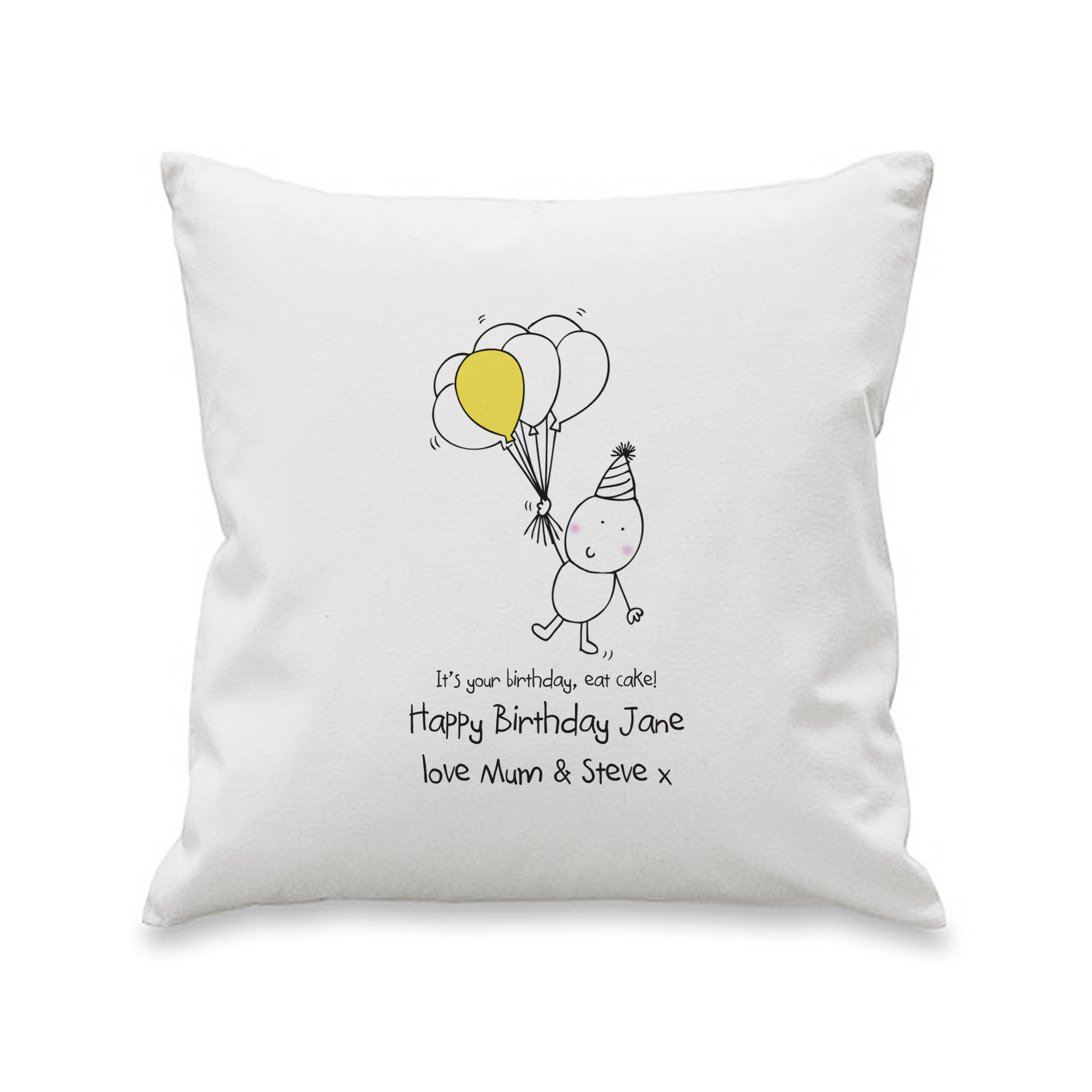 Chilli and Bubbles Birthday Cushion Cover