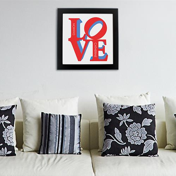 LOVE Personalised Poster - Lifestyle white
