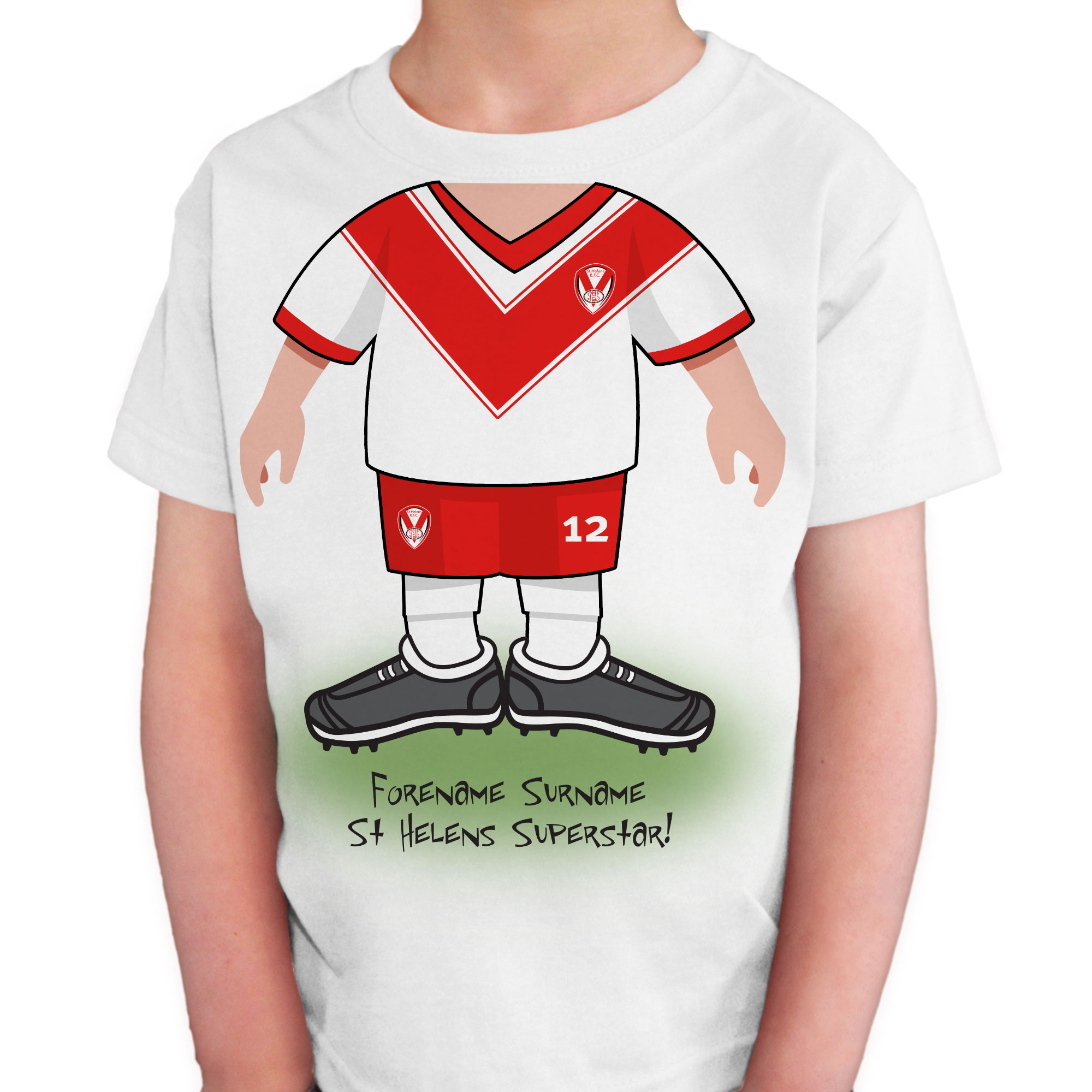 St Helens Kids Use Your Head T-Shirt