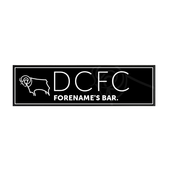 Derby County Mono Crest Large Bar Runner