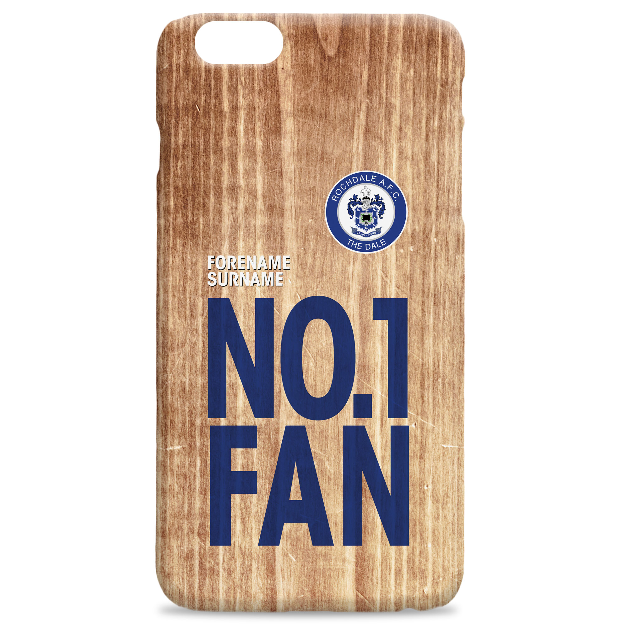 Rochdale AFC No 1 Fan Hard Back Phone Case