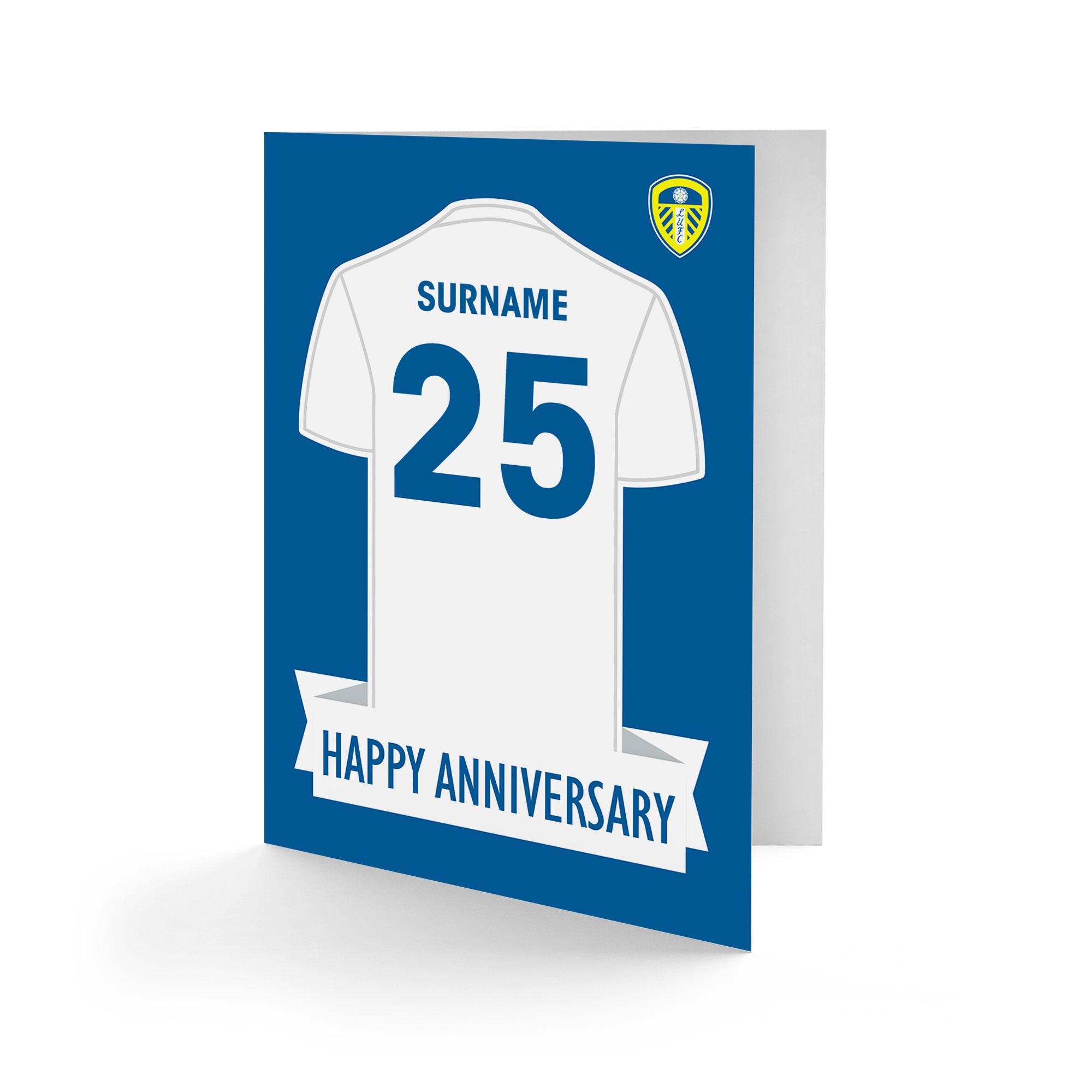 Leeds United FC Shirt Anniversary Card