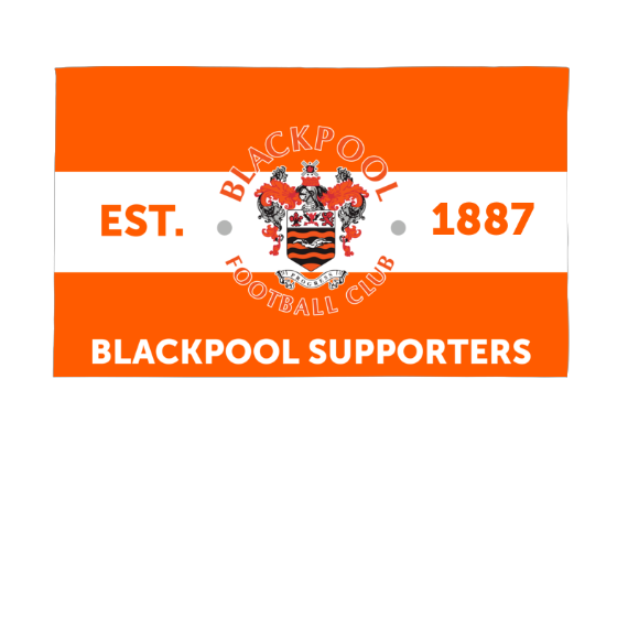 Blackpool Supporters 5ft x 3ft Banner