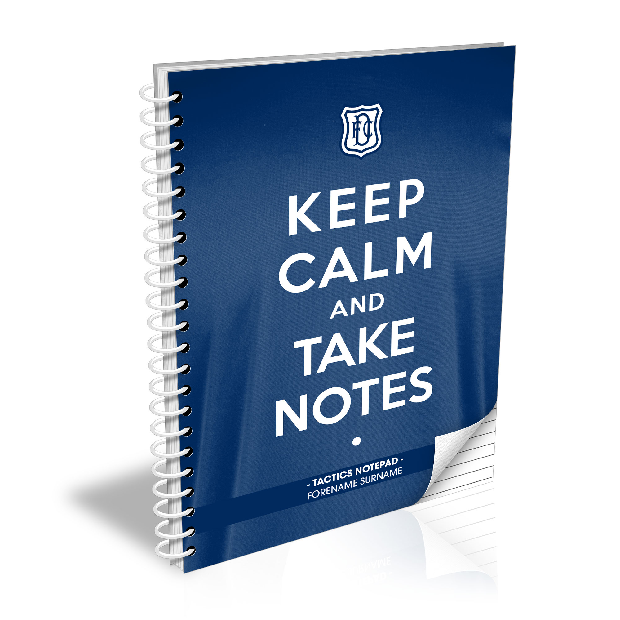 Dundee FC Keep Calm Notebook