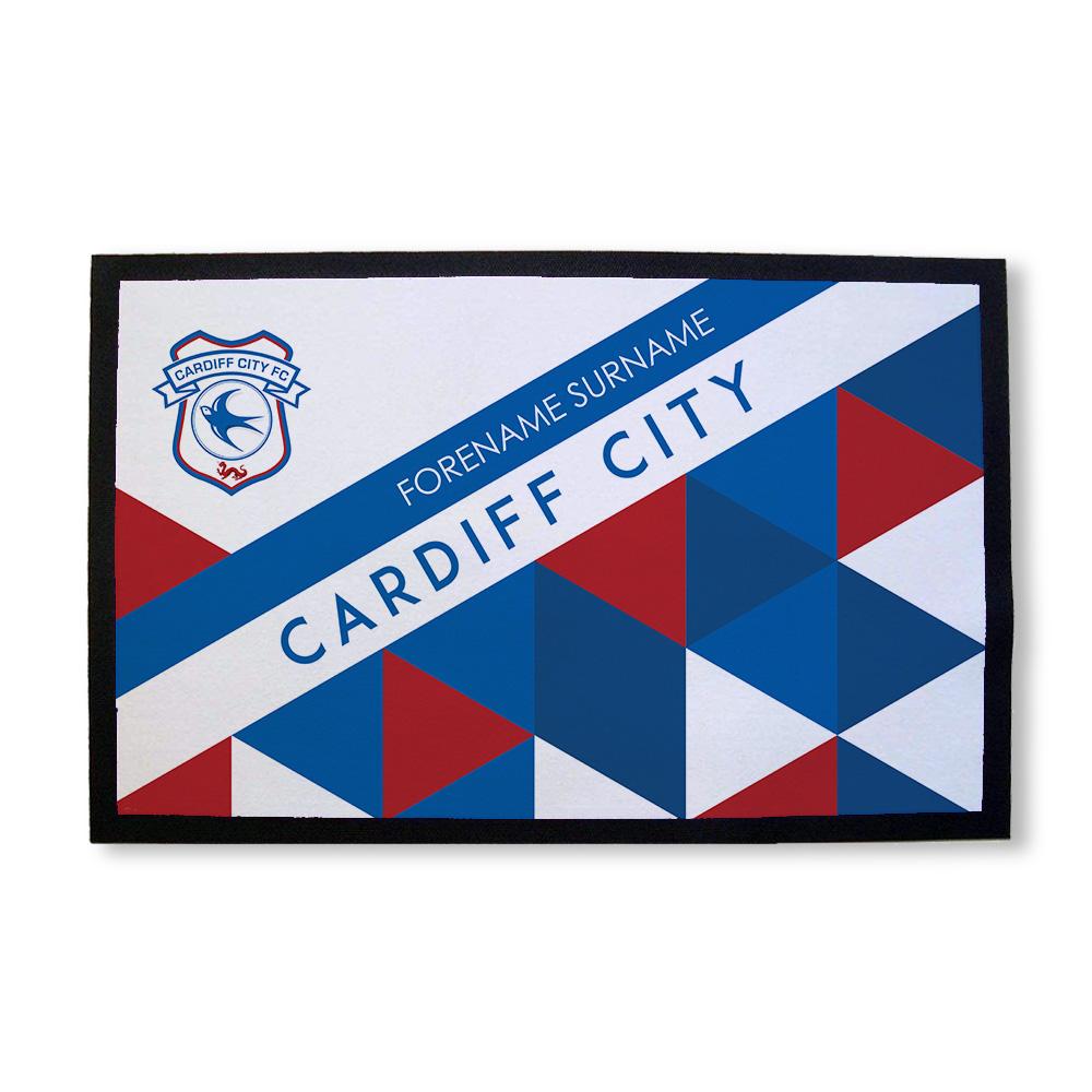 Cardiff City FC Patterned Door Mat