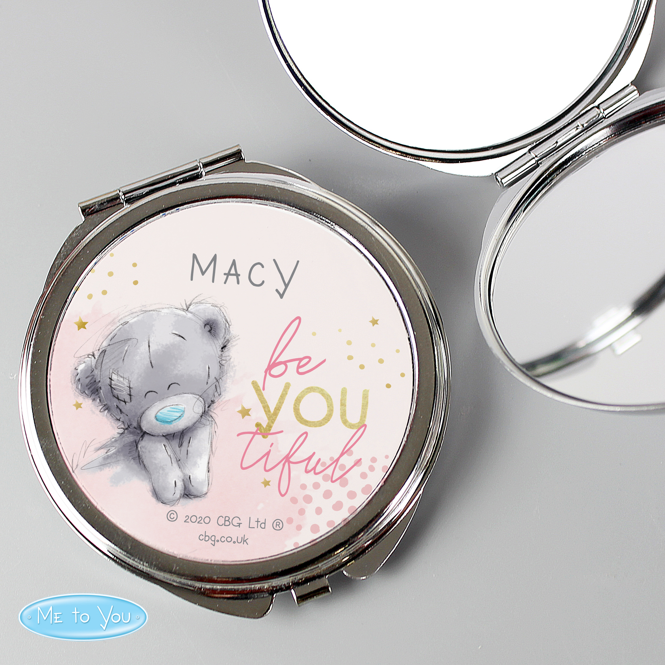 Personalised Me To You Be-You-Tiful Compact Mirror