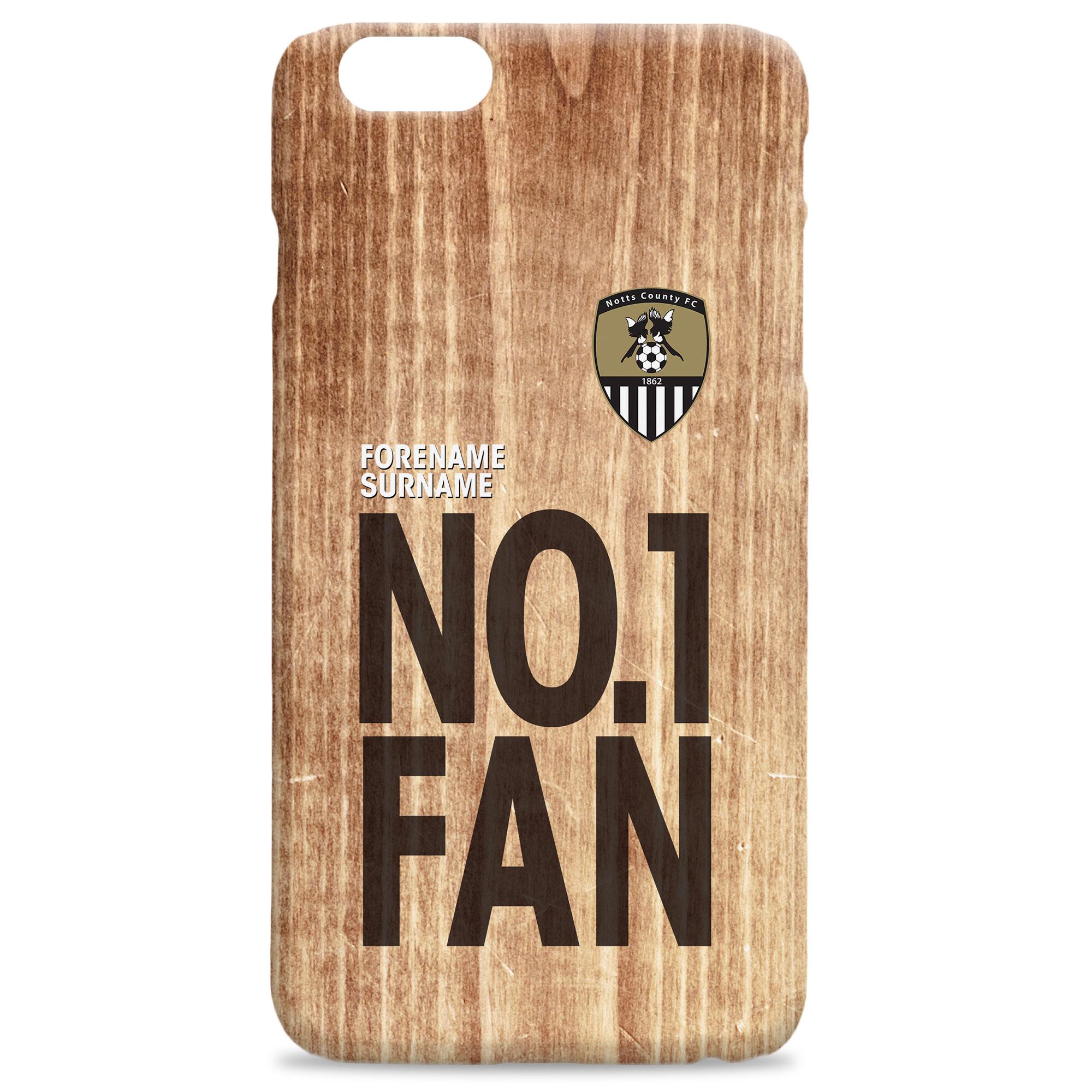 Notts County FC No 1 Fan Hard Back Phone Case