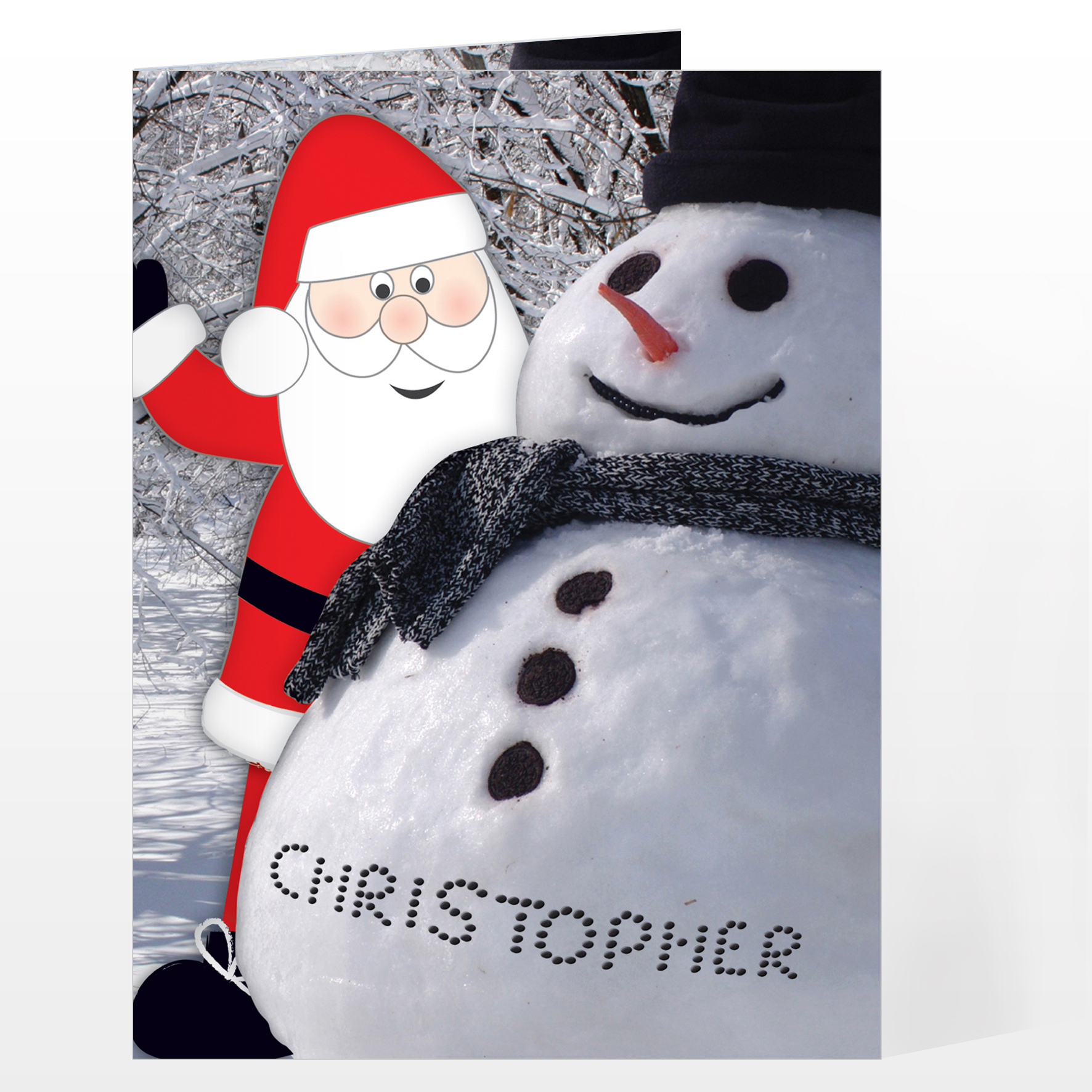 Personalised Card From Santa