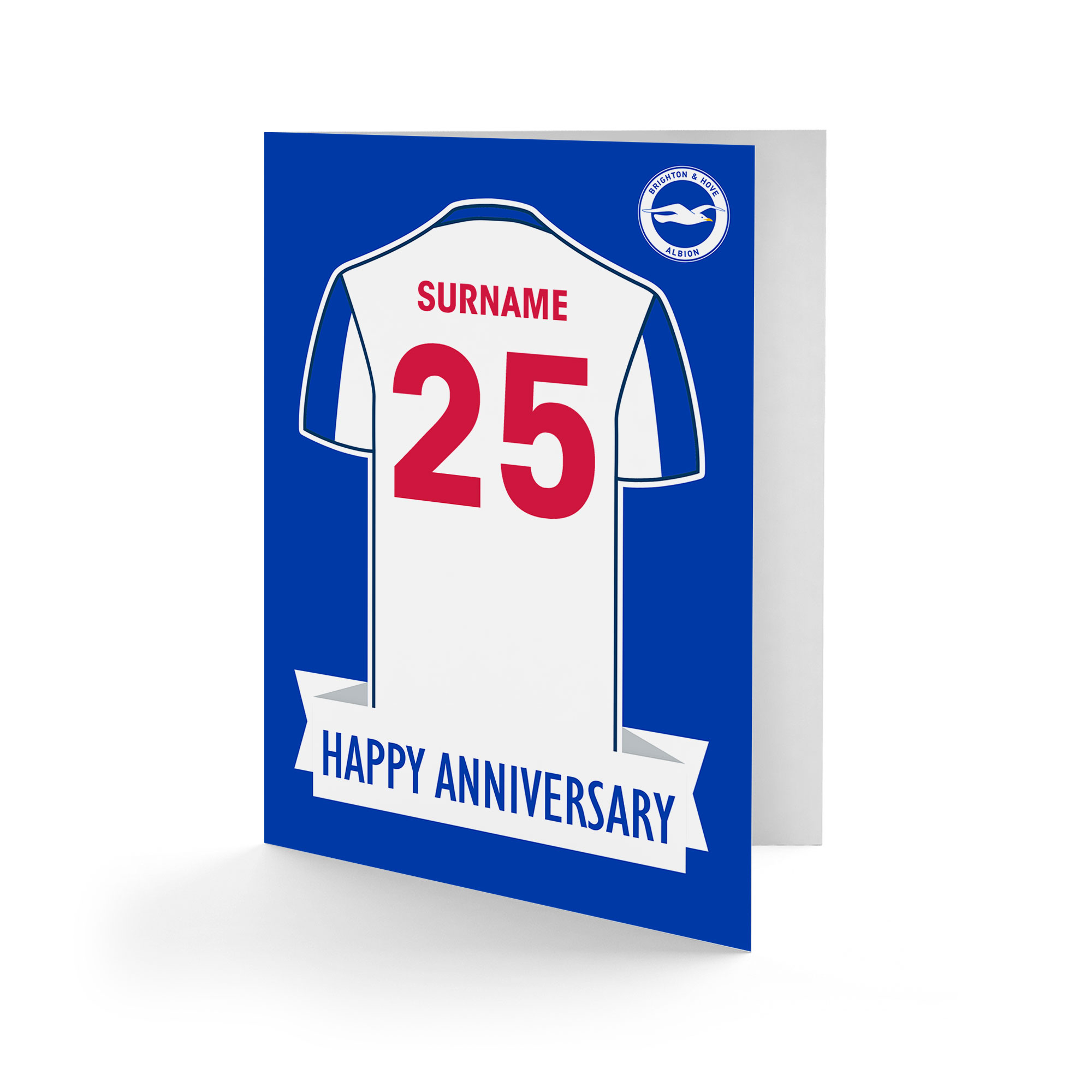 Brighton & Hove Albion FC Shirt Anniversary Card