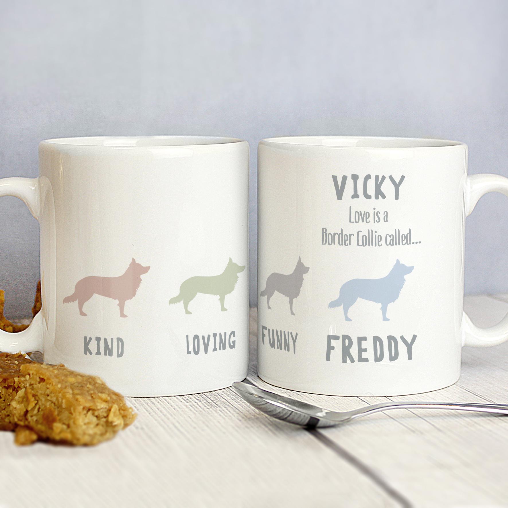 Personalised Border Collie Dog Breed Mug