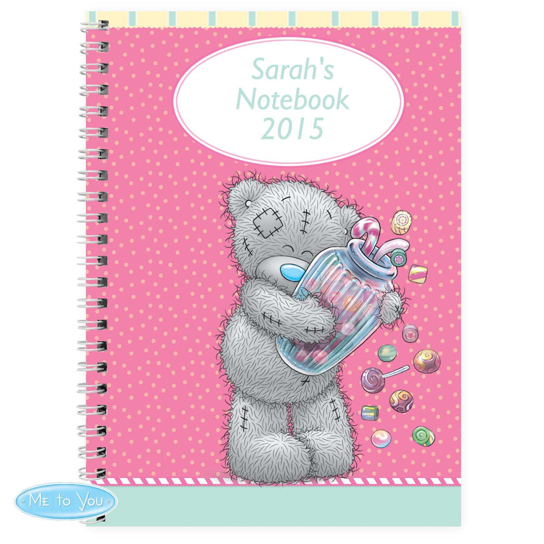 Personalised Me to You Candy Girl Notebook