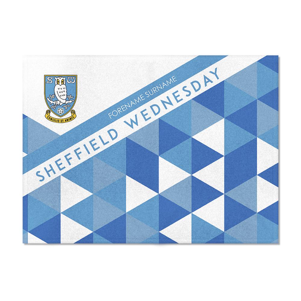 Sheffield Wednesday FC Patterned Blanket (150cm x 110cm)