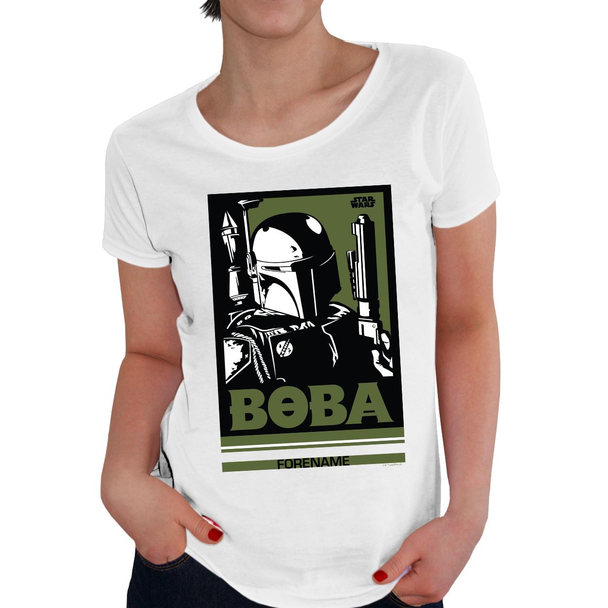 Star Wars Boba Pop Art Womens T-shirt