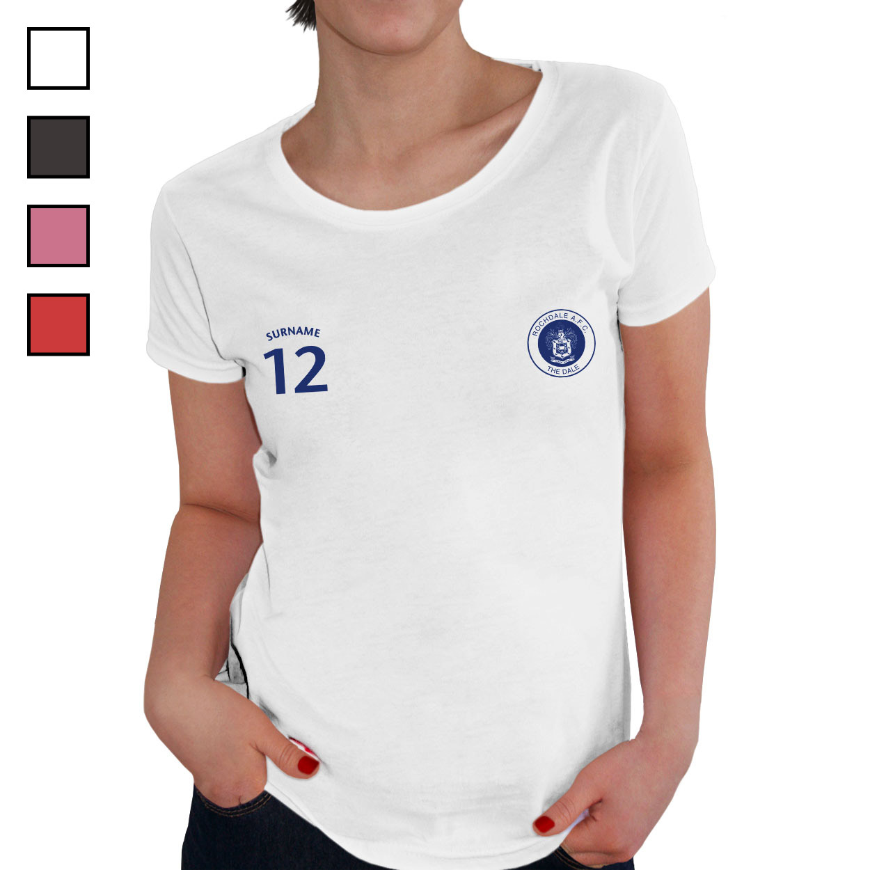 Rochdale AFC Ladies Sports T-Shirt