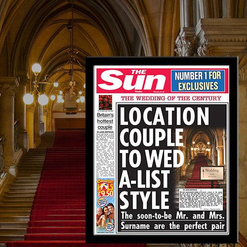 The Sun Wedding News Single Page Print