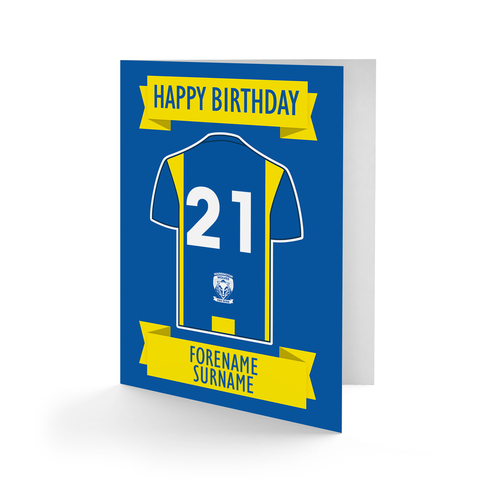 Warrington Wolves Shirt Birthday Card