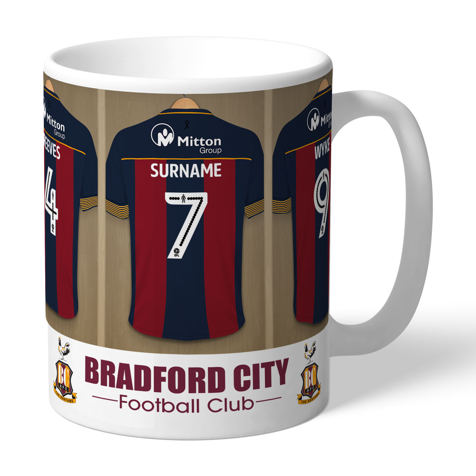 Bradford City AFC Away Dressing Room Mug