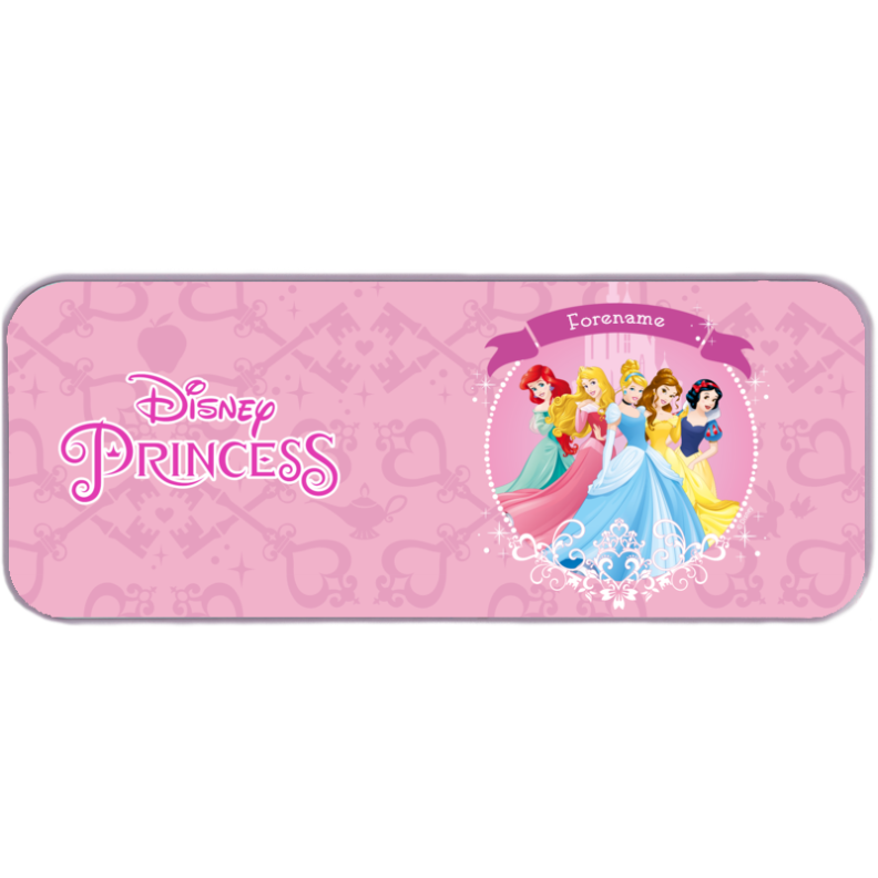 Disney Princess Group Pencil Tin - Pink