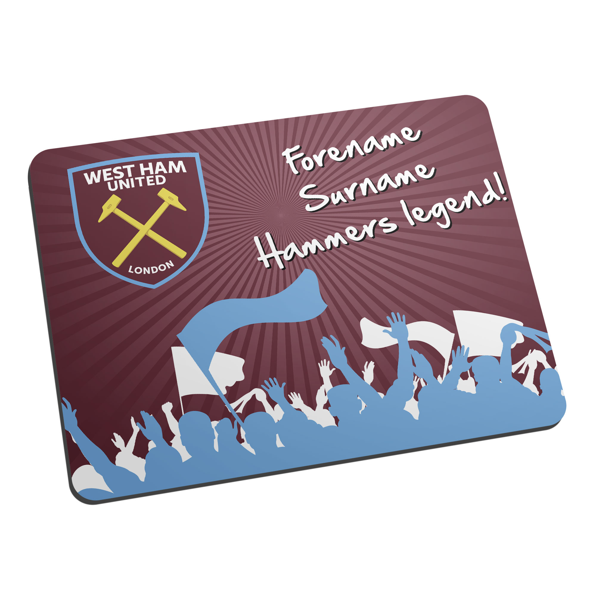 West Ham United FC Legend Mouse Mat