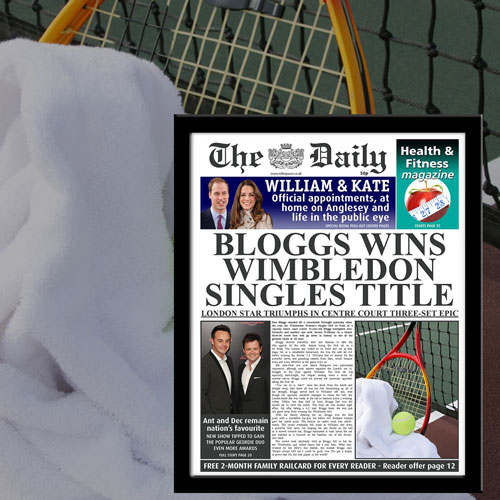 The Daily Tennis News Single Page Print - Male