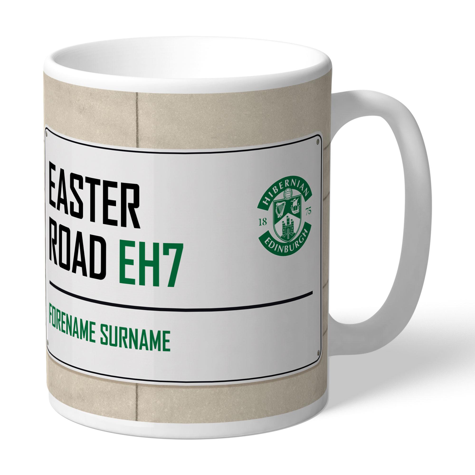 Hibernian FC Street Sign Mug