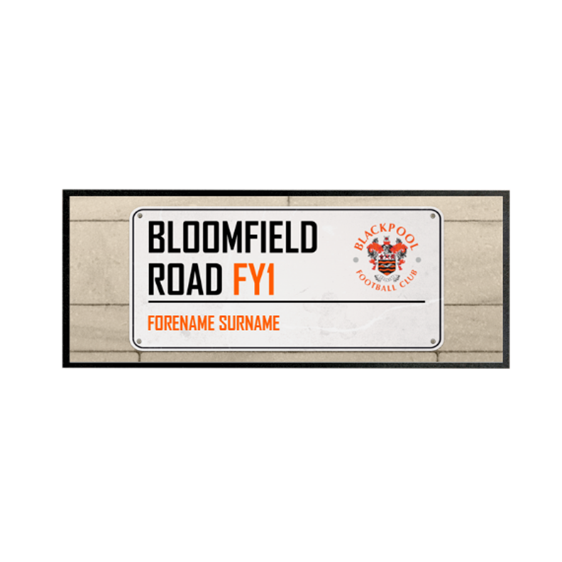 Blackpool Street Sign Regular Bar Runner