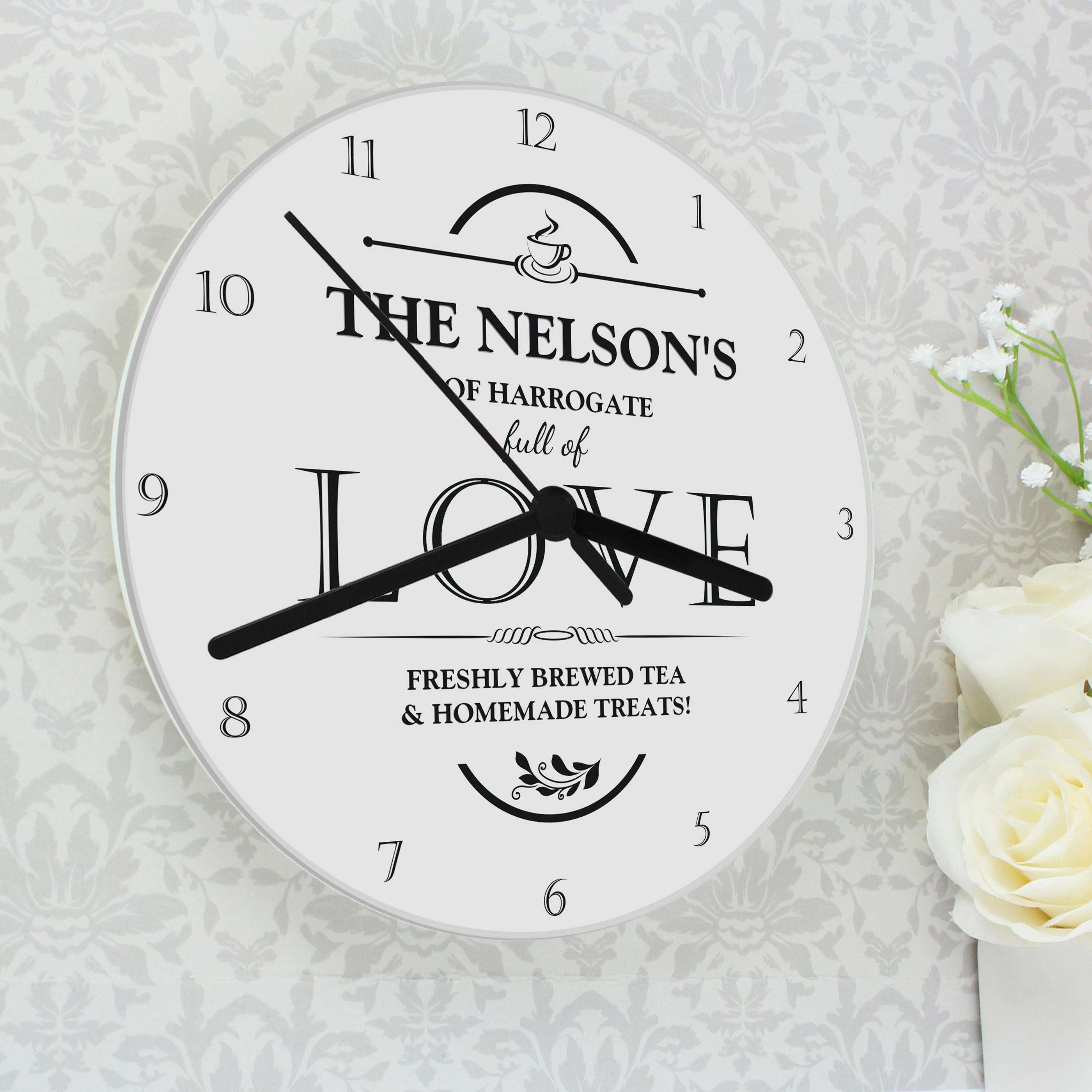 Personalised Full of Love Clock