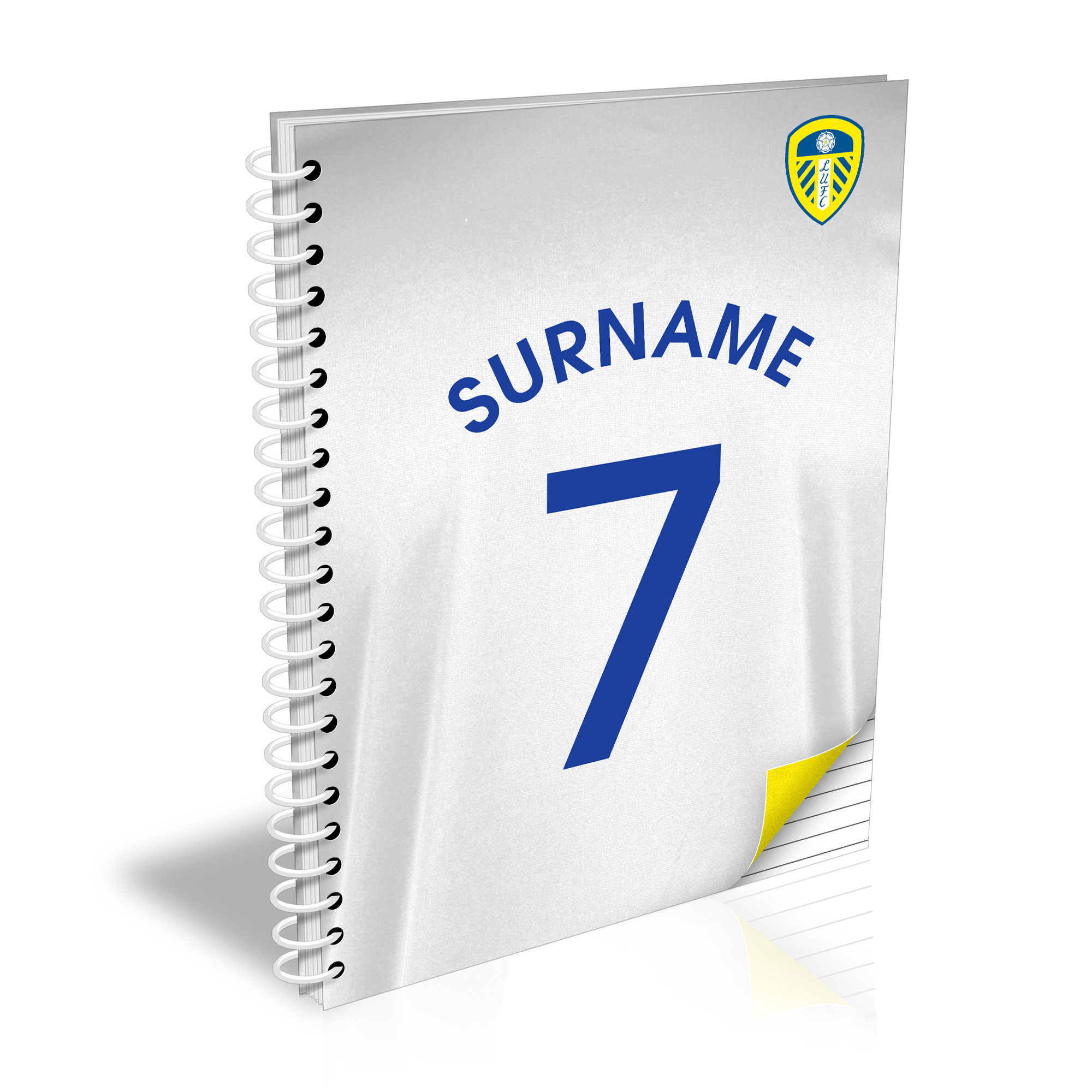 Leeds United FC Shirt Notebook