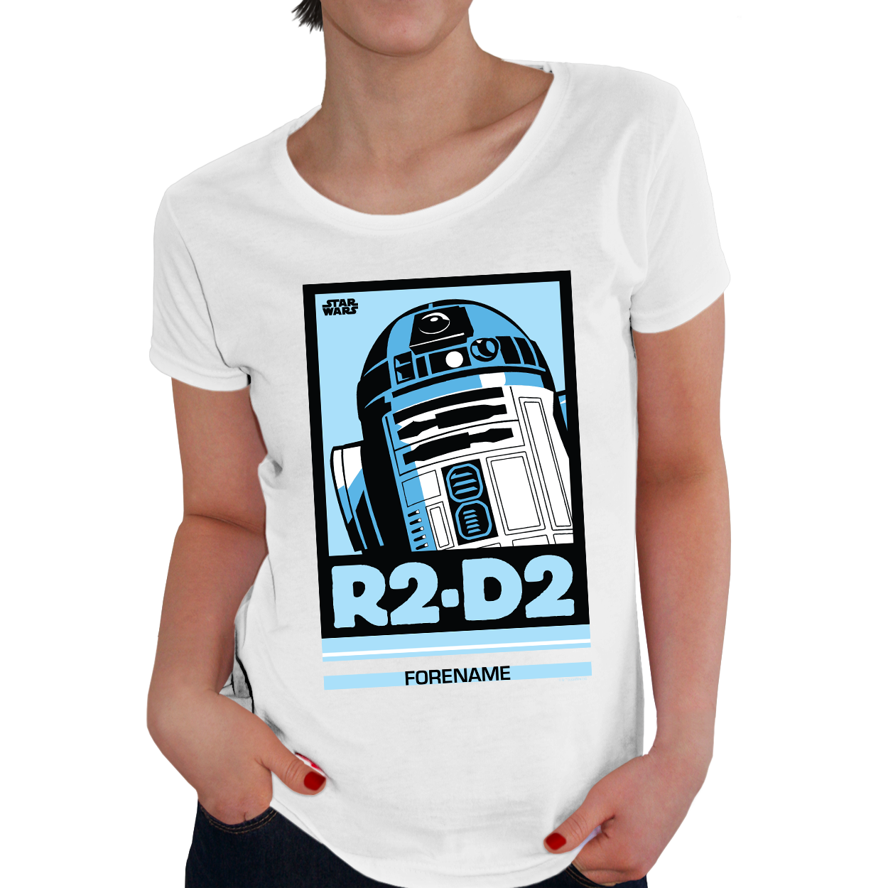 Star Wars R2 D2 Pop Art Womens T-Shirt